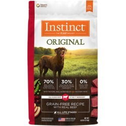 Nature's Variety Instinct Original Grain-Free Recipe with Real Beef Dry Dog Food 4 lb