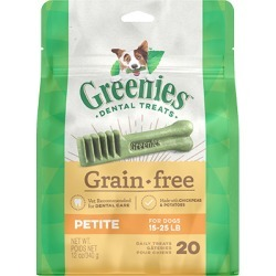 Greenies Grain Free Dental Treats for Dogs 12 oz Petite 20 Treats