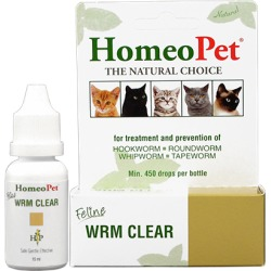 Wormers Medication, HomeoPet Wrm Clear Feline 15 ml