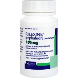 Medications Medication, Rilexine Chewable Tablets (cephalexin) 150 mg (sold per tablet) found on Bargain Bro from 1-800-petmeds for $0.44