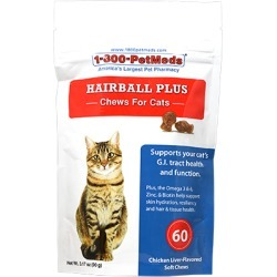 Hairball Plus Chews for Cats 60 ct