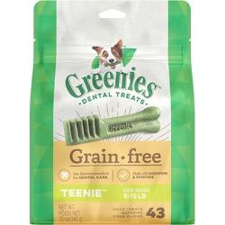 Greenies Grain Free Dental Treats for Dogs 12 oz Teenie 43 Treats