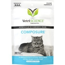 Anxiety Medication, Composure Bite-Sized Chews for Cats 30 ct