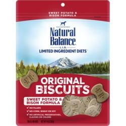 Natural Balance L.I.D. Limited Ingredient Diets Treats Sweet Potato & Bison Regular Breed 14 oz