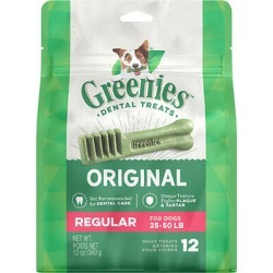 Greenies Dental Treats 12 oz Regular 12 Treats