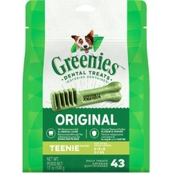 Greenies Dental Treats 12 oz Teenie 43 Treats