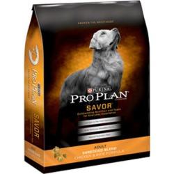 Purina Pro Plan Savor Shredded Chicken Dry Dog Food 35 lb