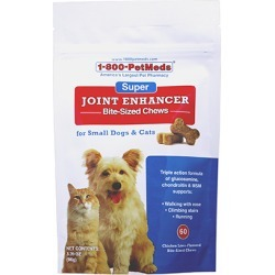 Super Joint Enhancer Bite-Sized Chews Small Dogs & Cats 60 ct