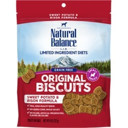 Natural Balance L.I.D. Limited Ingredient Diets Treats Sweet Potato & Bison Small Breed 8 oz