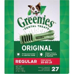 Greenies Dental Treats 27 oz Regular 27 Treats