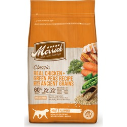 Merrick Classic Dry Dog Food Real Chicken + Green Peas Recipe with Ancient Grains 12 lb