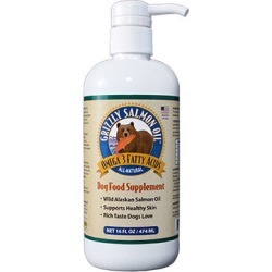 Grizzly Salmon Oil Dog Food Supplement 16 oz Pump