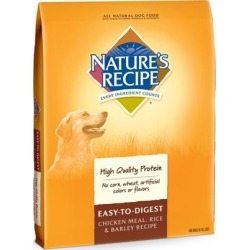 Nature's Recipe Easy to Digest Chicken Meal, Rice & Barley Dry Dog Food 30 lb