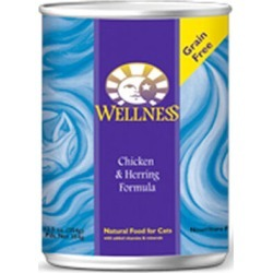 Wellness Canned Cat Food Chicken & Herring Cat Can 12.5 oz