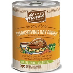 Merrick Canned Dog Food Thanksgiving Day Dinner 12 x 13.2 oz
