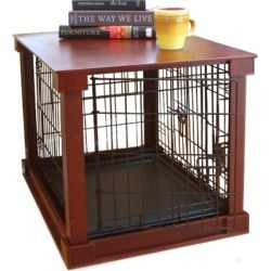 Dog Crate with Wooden Cover Medium