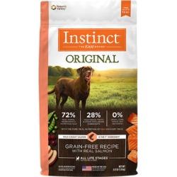 Nature's Variety Instinct Original Grain-Free Recipe with Real Salmon Dry Dog Food 4 lb