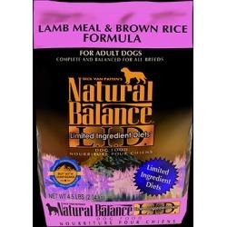 Natural Balance L.I.D. Limited Ingredient Diets Lamb Meal & Brown Rice Formula 4.5 lb