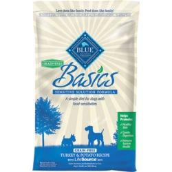 Blue Buffalo Basics Dry Grain Free Dog Food Turkey & Potato Recipe - 24 lb bags