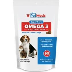 Super Pure Omega 3 Bite-Sized Chews Cats & Small Dogs 90 ct