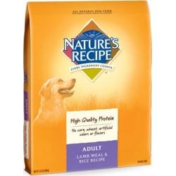 Nature's Recipe Adult Lamb Meal & Rice Dry Dog Food 15 lb