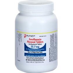 Medications Medication, Enrofloxacin 22.7 mg (sold per tablet) found on Bargain Bro from 1-800-petmeds for $0.71
