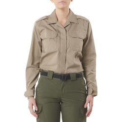 5.11 Tactical Women's CDCR Women's Long Sleeve Duty Shirt (Khaki/Tan)