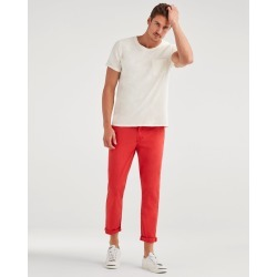 7 For All Mankind Men's The Sunset Straight Chino in Tomato