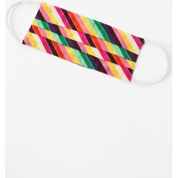 Rainbow Stripe Face Covering in Pure Cotton found on Bargain Bro UK from Accessorize