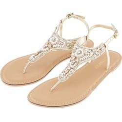 Athens Embellished Sandals Metalic found on Bargain Bro UK from Accessorize