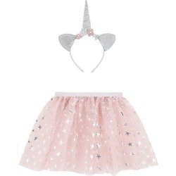 Accessorize Girls Pink and Silver Glitter Star Print Unicorn Dress-Up Set, Size: 25x20cm found on Bargain Bro UK from Accessorize