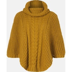 Accessorize Women's Yellow Cable Knitted Poncho, Size: S/M found on Bargain Bro UK from Accessorize