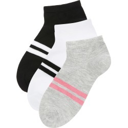 Accessorize Women's Black, White and Grey Striped Sporty Stripe Trainer Sock Multipack found on Bargain Bro UK from Accessorize