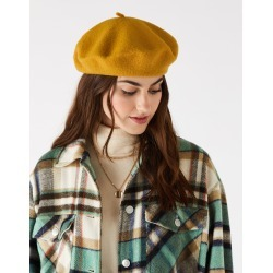 Accessorize Women's Yellow Wool Classic Beret Hat found on Bargain Bro UK from Accessorize