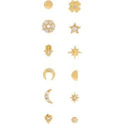 Gold-Plated Sparkle Single Stud Multipack found on Bargain Bro UK from Accessorize