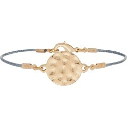 Accessorize Women's Gold Slim Cotton Hammered Disc Friendship Bracelet found on Bargain Bro UK from Accessorize