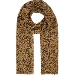 Accessorize Women's Beige and Brown Stylish Leopard Print Scarf, Size: 180x100cm found on Bargain Bro UK from Accessorize