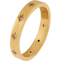 Accessorize Women's Gold-Plated Sparkle Star Band Ring, Size: XS found on Bargain Bro UK from Accessorize