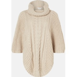 Accessorize Women's Beige Knitted Cable Knit Poncho, Size: S / M found on Bargain Bro UK from Accessorize
