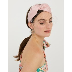 Accessorize Ladies Pink Taylor Satin Headband with Veil found on Bargain Bro UK from Accessorize