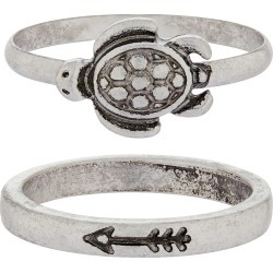 Tilly Turtle Ring Set Silver found on Bargain Bro UK from Accessorize