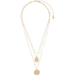 Hammered Coin Layered Necklace with Recycled Metal found on Bargain Bro UK from Accessorize