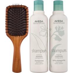 Aveda Shampure Set with Mini Paddle Brush