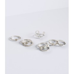 Aeropostale Faux Gem Ring 8-Pack - Silver, 7 found on Bargain Bro Philippines from Aeropostale for $13.00
