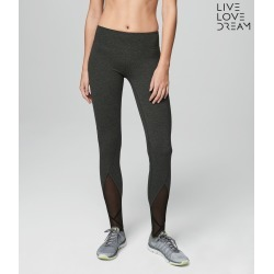 Aeropostale Lld Mesh Stirrup Yoga Leggings - Charcoal Heather Grey, Medium found on Bargain Bro from Aeropostale for USD $30.02