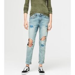 Aeropostale Mid-Rise Girlfriend Jean - Light Wash, 18 R found on Bargain Bro Philippines from Aeropostale for $54.50