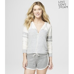 Aeropostale Lld Colorblocked Full-Zip Hoodie - Ethereal White, XXLarge found on Bargain Bro India from Aeropostale for $49.50