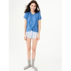Aeropostale Lld Knot-Front Tee - Blue, Large found on Bargain Bro Philippines from Aeropostale for $24.50