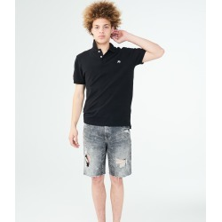 Aeropostale A87 Solid Logo Pique Polo - Black, 3XL found on Bargain Bro Philippines from Aeropostale for $29.50