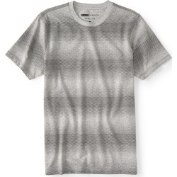 Aeropostale Gradient Triangle Stretch Graphic Tee - Light Heather Grey, Small